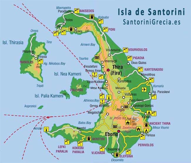 santorini-mapa
