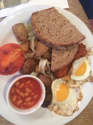 Desayuno Inglés vegetariano